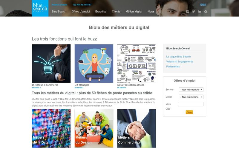 Blue-Search : Bible des métiers du digital